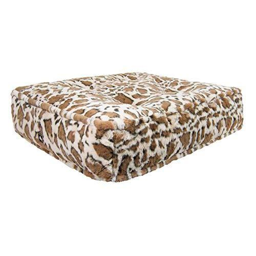 Bessie And Barnie Giraffe Extra Plush Faux Fur Sicilian Rectangle Pet/Dog Bed (Multiple Sizes)