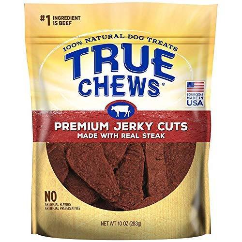 True Chews Dog Treats Premium Steak Jerky 10Oz Made In Usa (1 Pack)