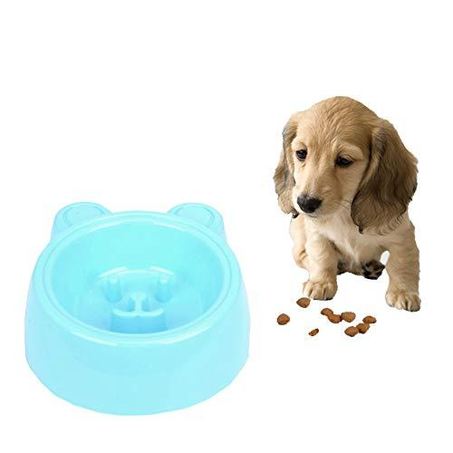 Luck Dawn Pet Bowl Slow Feeder, Bear Shape Anti-Gulping Bloat Stop Dog Slow Bowls With No-Skid Base