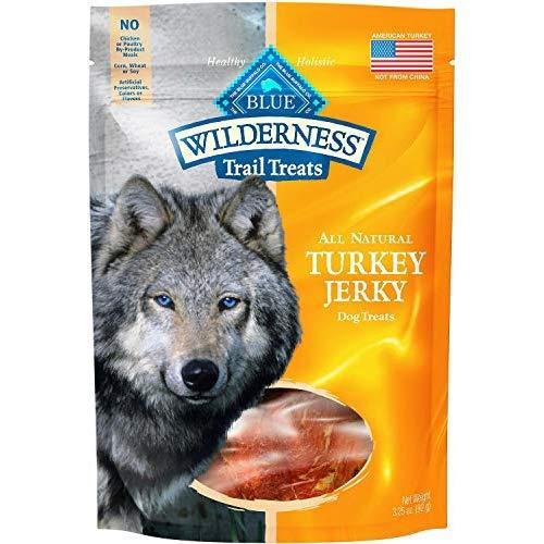 Blue Wilderness Grain-Free Turkey Jerky Trail Dog Treats, 3.25 Ounce, 6 Pack