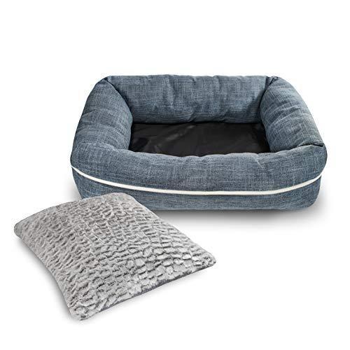 Poundwishes Pw702 Cozy Dog Bed, Blue