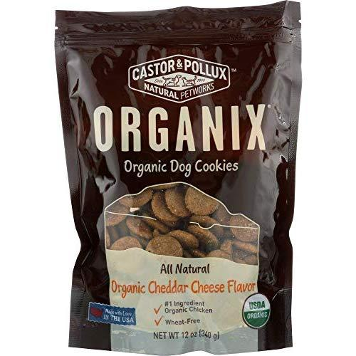 Castor & Pollux Natural Petworks (Not A Case) Organic Dog Cookies Cheddar Cheese Flavor
