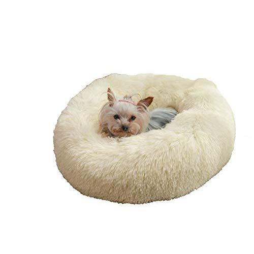 Premium Donut Dog Bed | Cozy Poof Style Giant Pet Bed Great For Cats & Dogs - Orthopedic, Washable, Durable Dog Bed (Oatmeal, Large)