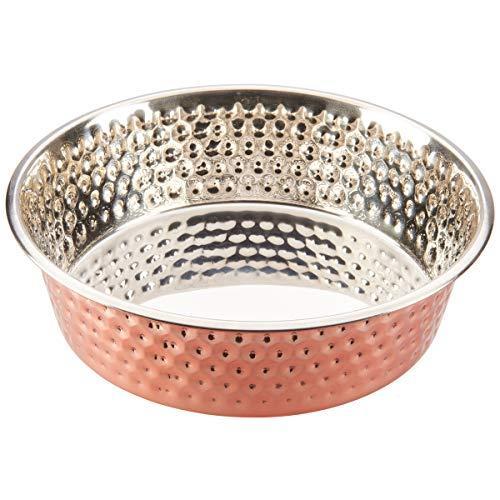 Ethical Pets Honeycomb Hammered Copper Dog Dish 3Qt