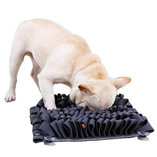 Morezi Snuffle Mat Nosework Blanket Dog Smell Training Mat Stress Release For Encourages Pets Natural Foragin Skill - Durable And Machine Washable - Perfect For Any Breed 0432 - Dark Grey