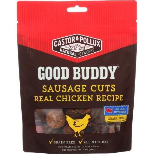 Castor & Pollux Dog Good Buddy Sausage Cuts Chicken 5 Oz (Pack Of 12)
