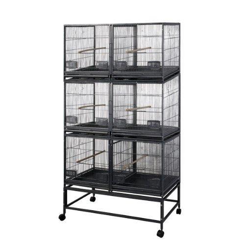 6 Unit Breeder Cage LOR4020-3 Black