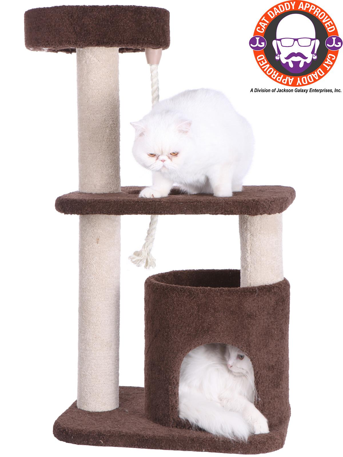 Armarkat Premium Carpeted Cat Tree Model F3703,coffee brown