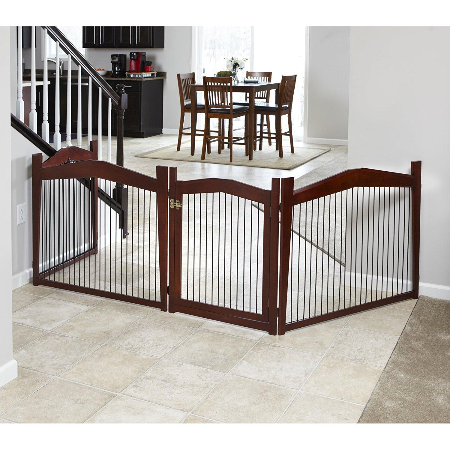 Merry Pet 2-in-1 Configurable Pet Crate and Gate, Brown, Large