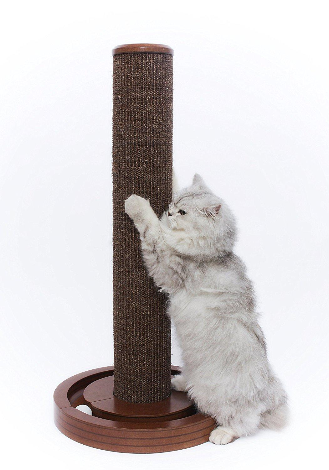 Cat Scratching Post with Round Ball Toy Base