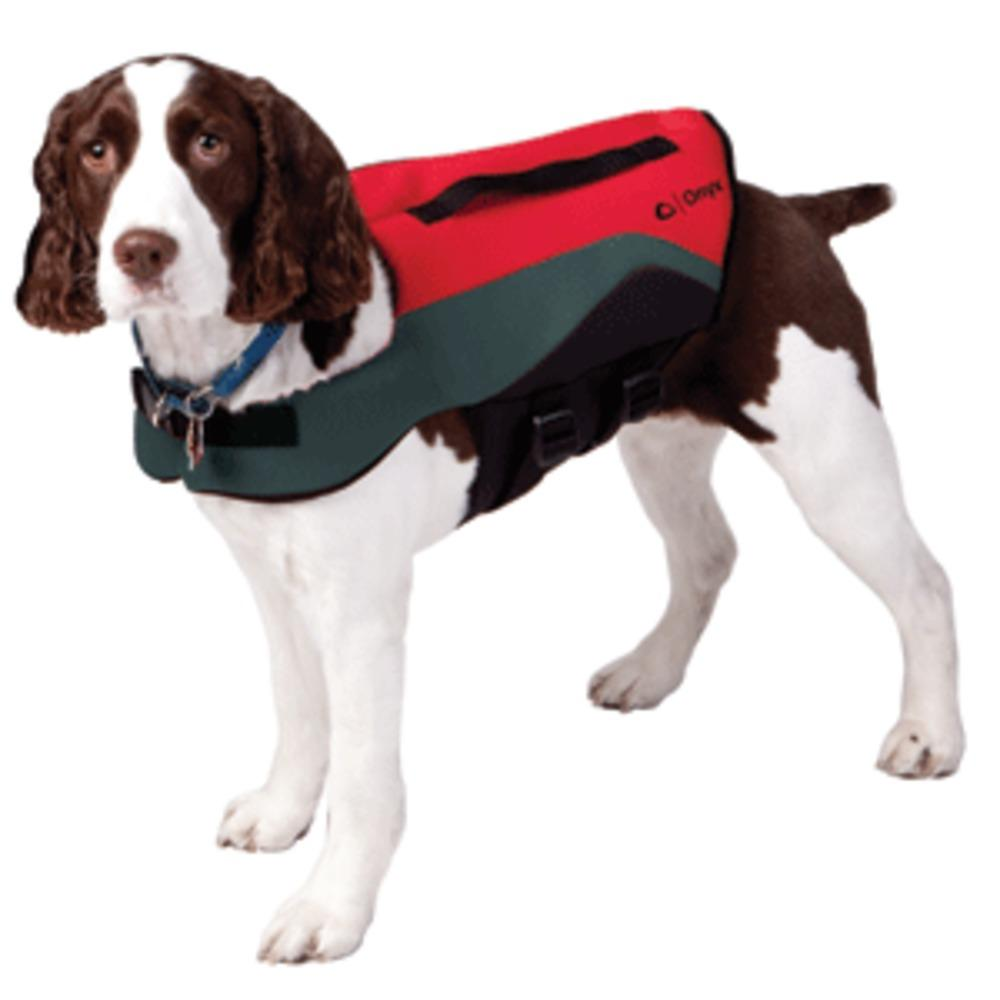 Onyx Neoprene Pet Vest - Meduim - Red/Grey