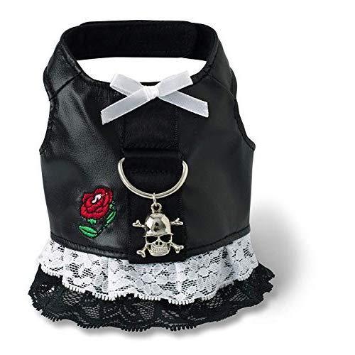 Doggles Biker Dress Dog Harness, Black, Teacup