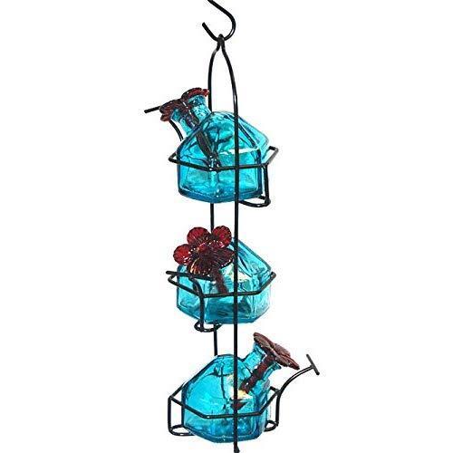Parasol Lp3Aq Lunchpail 3 Hummingbird Feeder Aqua