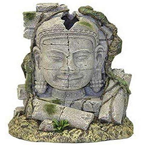 Exotic Environments Ancient Stone Head Ruin Aquarium Ornament