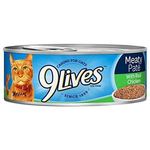 9Lives Meaty Paté With Real Chicken Wet Cat Food, 4/5.5-Ounce Cans (Pack of 6)