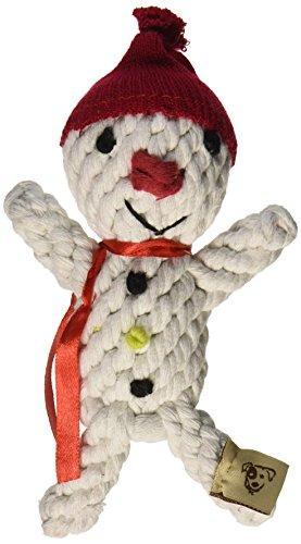 Jax and Bones Good Karma Holiday Rope Dog Toy, 6-Inch, Scott The Snowman