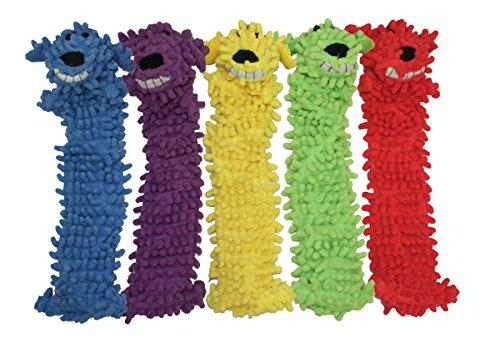 Multipets 12-Inch Floppy Loofa Light Weight No Stuffing Dog Toys, Assorted Colors