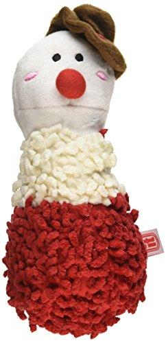 Dogit Plush Luvz Christmas Shaggy Dog Toy, Snowman, 8-Inch