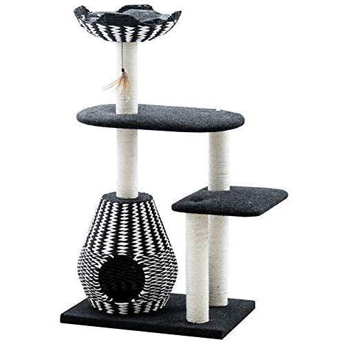 Ace - Petpals Cat Tree & Cat Condo-Four Level Perch & Condo Lounger, 27 X 19 X 49