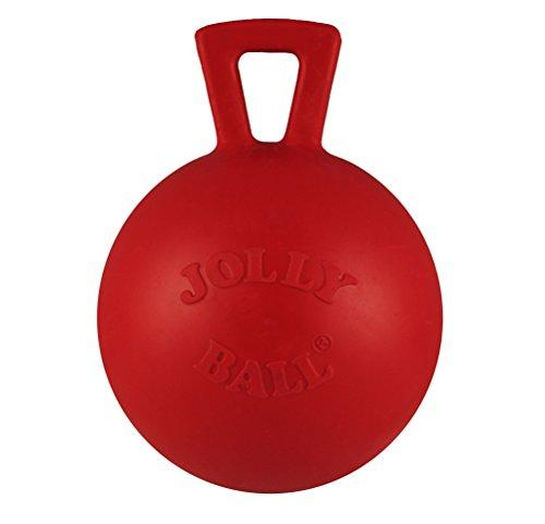 Jolly Pets 4-Inch Tug-n-Toss Toy Ball, Mini, Red