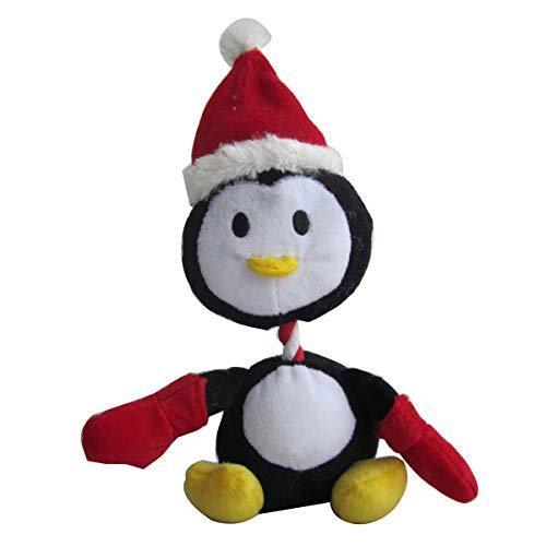Iconic Pet Christmas Penguin Plush Rope/Squeaky Holiday Pet Dog Toy