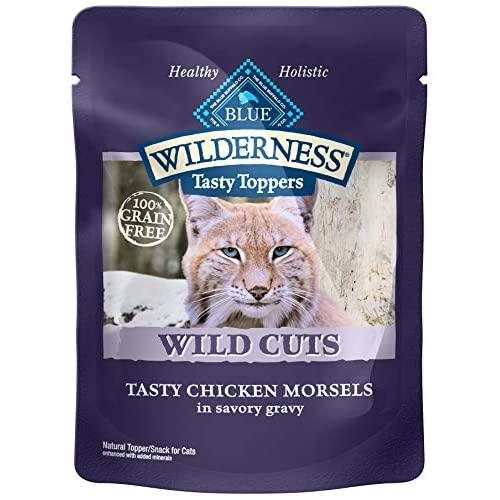 BLUE Wilderness Tasty Toppers Wild Cuts Grain-Free Tasty Chicken Morsels in Savory Gravy Wet Cat Food 3-oz (pack of 24)