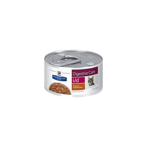 Hill'S Pet Nutrition I/D Digestive Care Chicken & Vegetable Stew Canned Cat Food, 2.9 Oz, 24 Pack Wet Food