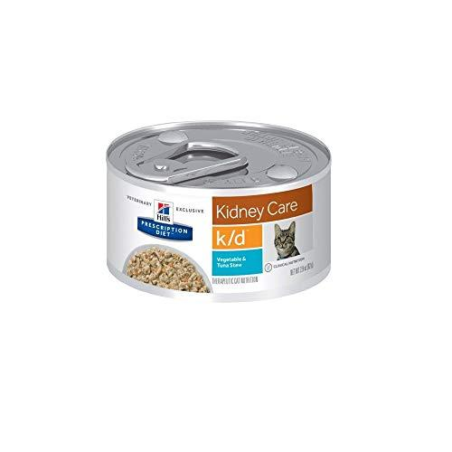 Hill'S Pet Nutrition K/D Kidney Care Vegetable, Tuna & Rice Stew Canned Cat Food, 2.9 Oz, 24 Pack Wet Food
