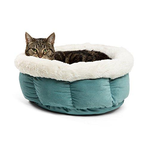 Best Friends By Sheri Cuddle Cup Ilan Cozy Microfiber Cat And Dog Bed In Tide Pool