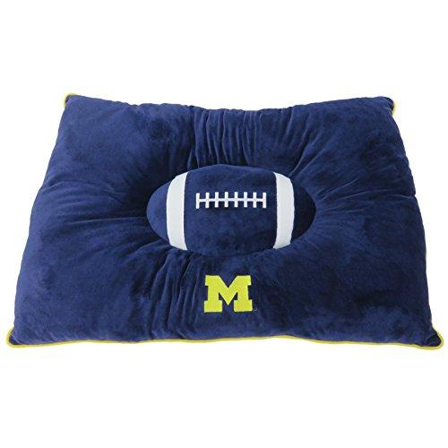 Pets First Collegiate Pet Accessories, Dog Bed, Michigan Wolverines, 30 X 20 X 4 Inches