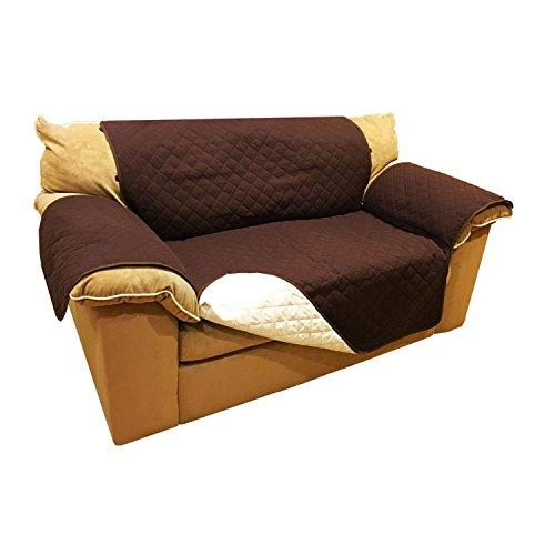 Aleko Psc02Br Pet Furniture Slipcover Spill Scratch Pet Fur Protection Cover For Love Seat Couch Bed 88 X 70 Inches Brown