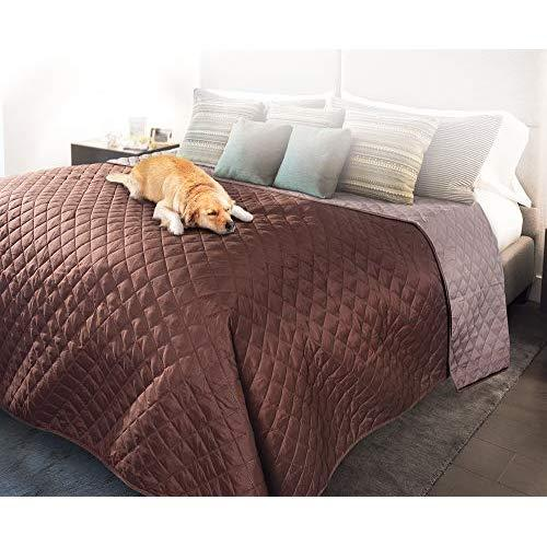 Pet Parade Bed Protector-Waterproof, Reversible, Washable Protection-For Cats, Dogs-Blanket-Maroon