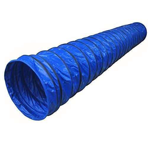 Cool Runners 470Gsm Pvc Dog Agility Round Tunnel, 118 By 24-Inch, 8-Inch Pitch, Blue
