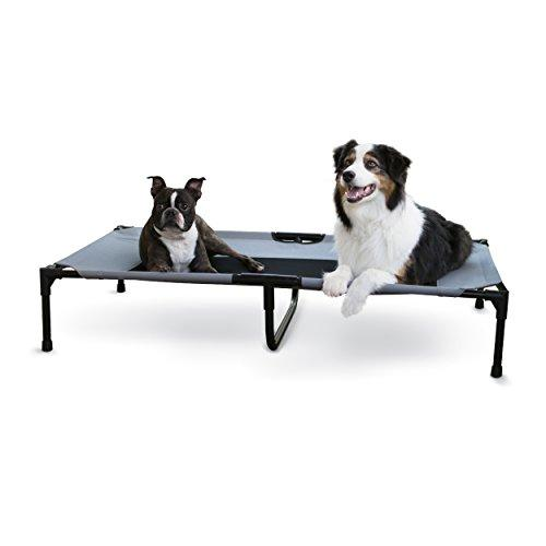 K&H Pet Products Original Pet Cot Elevated Pet Bed Gray/Mesh X-Large 32 X 50 Inches