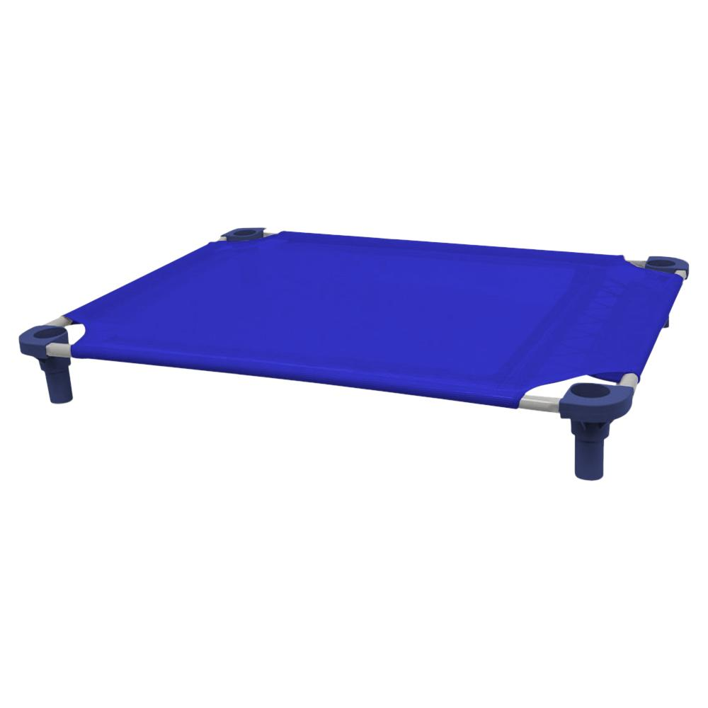 40x30 Pet Cot in Blue with Navy Legs, Unassembled