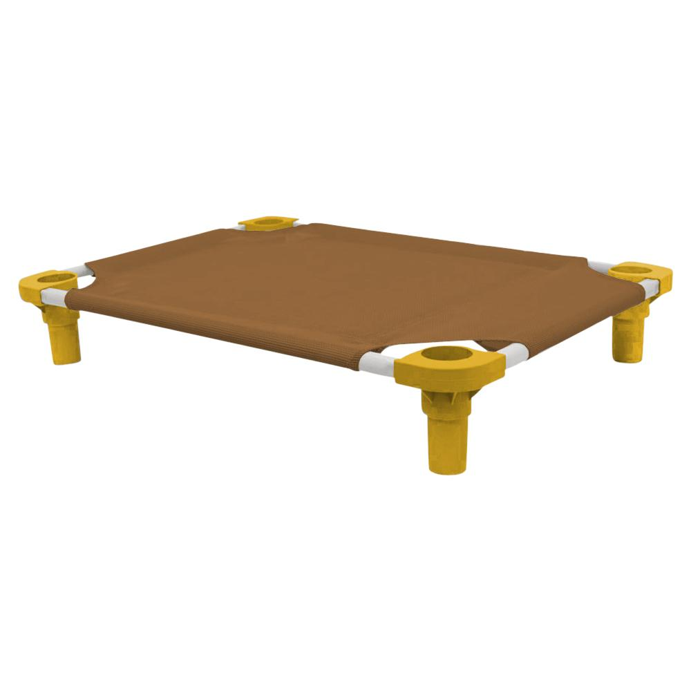 30x22 Pet Cot in Brown with Gold Legs, Unassembled