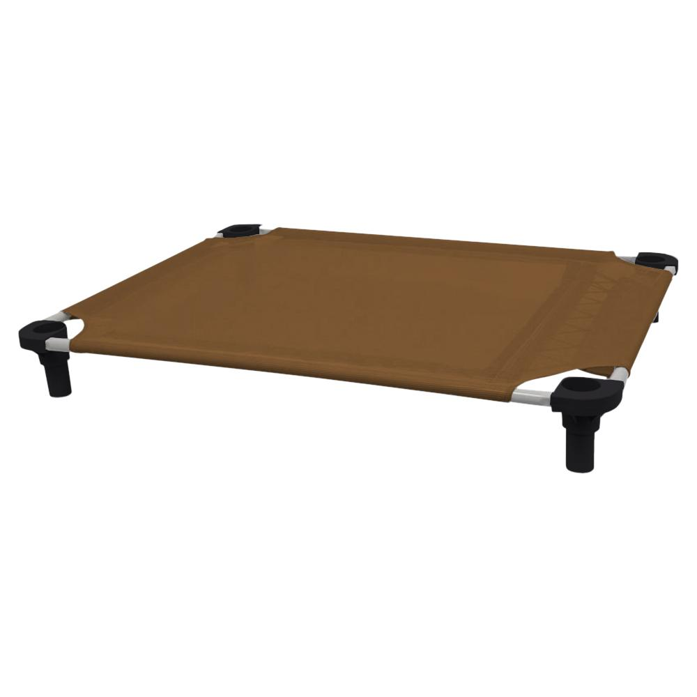 40x30 Pet Cot in Brown with Black Legs, Unassembled