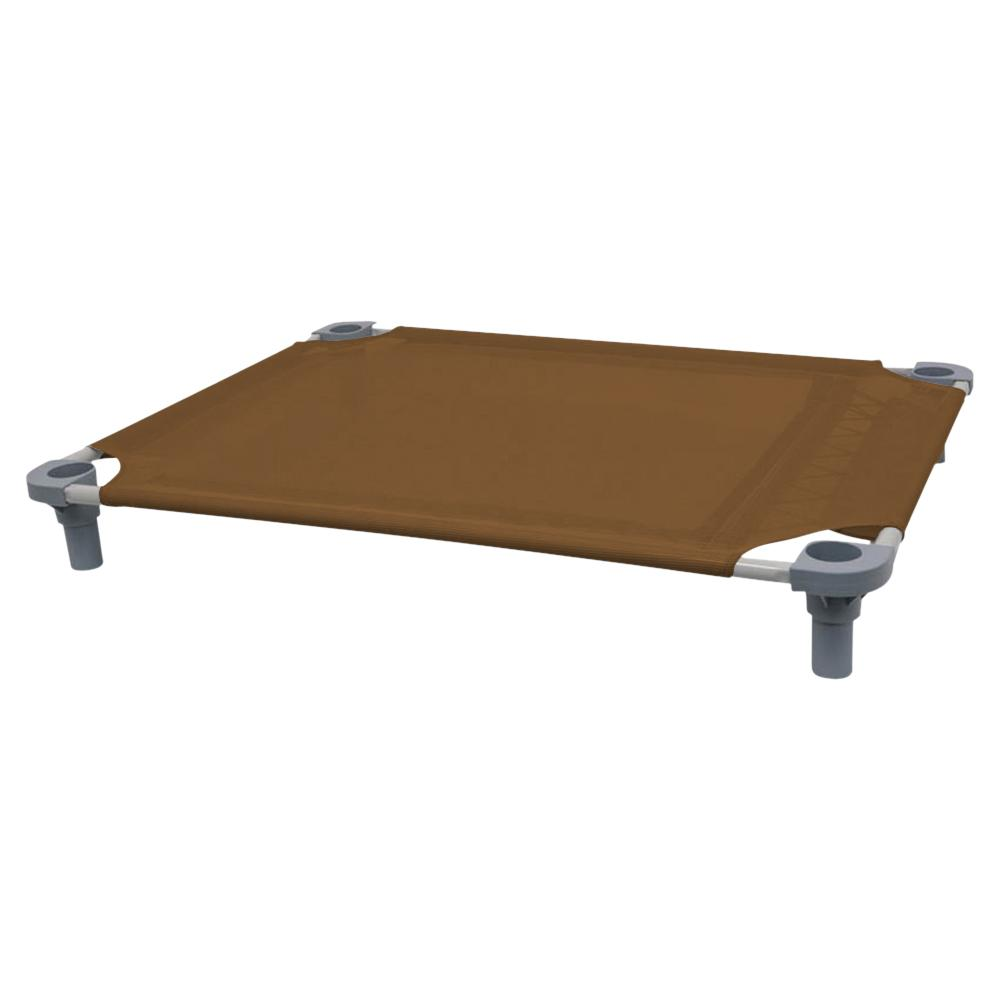 40x30 Pet Cot in Brown with Gray Legs, Unassembled