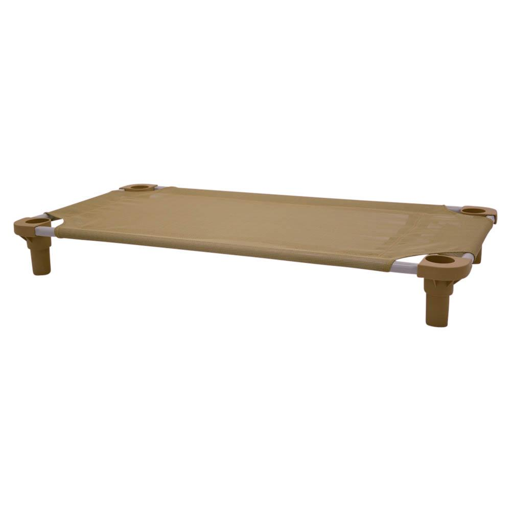 40x22 Pet Cot in Tan with Tan Legs, Unassembled