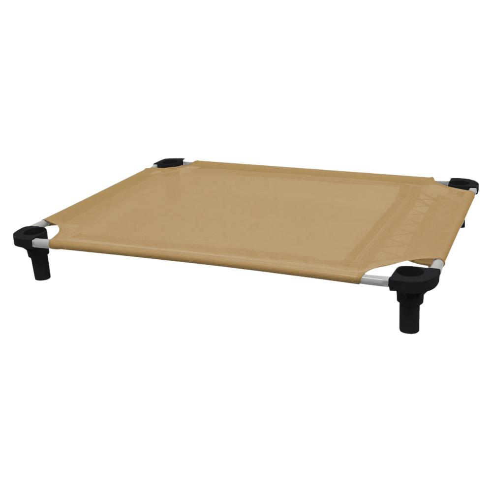 40x30 Pet Cot in Tan with Black Legs, Unassembled