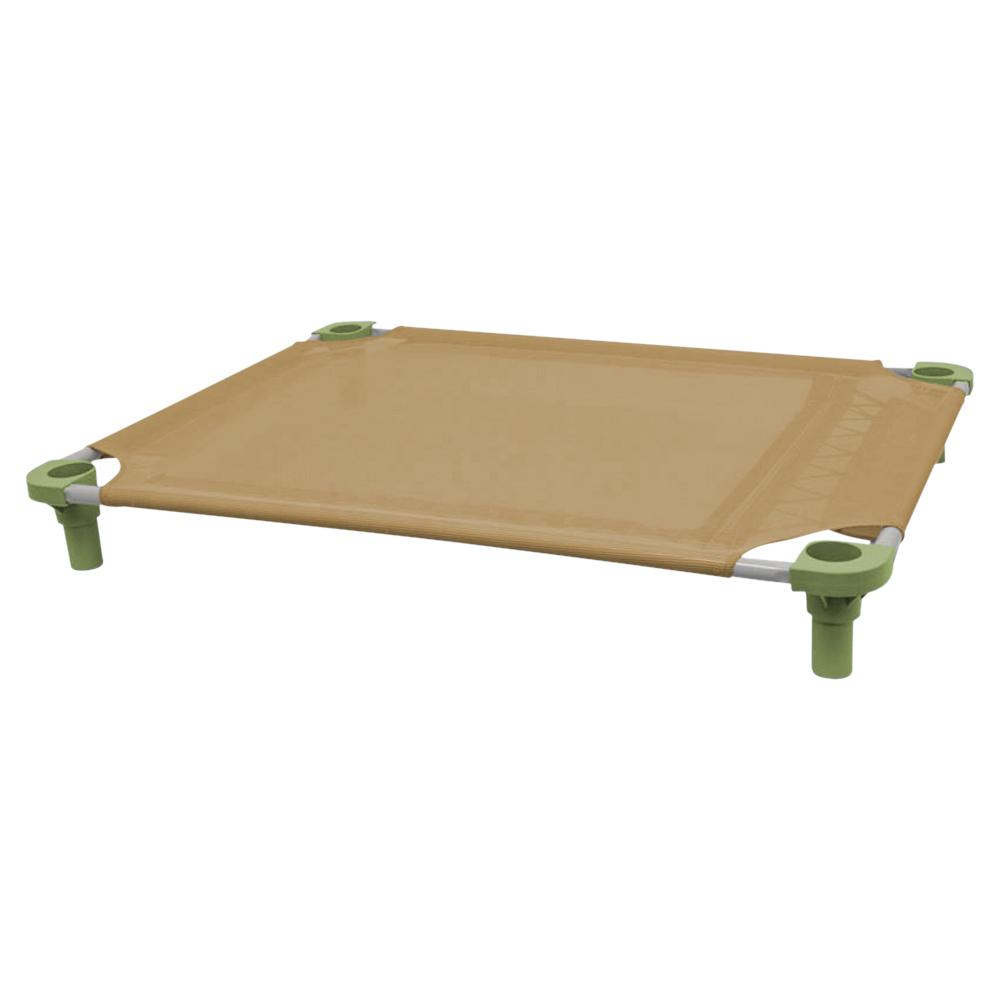40x30 Pet Cot in Tan with Sage Legs, Unassembled