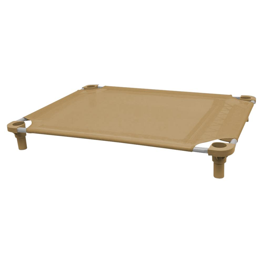 40x30 Pet Cot in Tan with Tan Legs, Unassembled