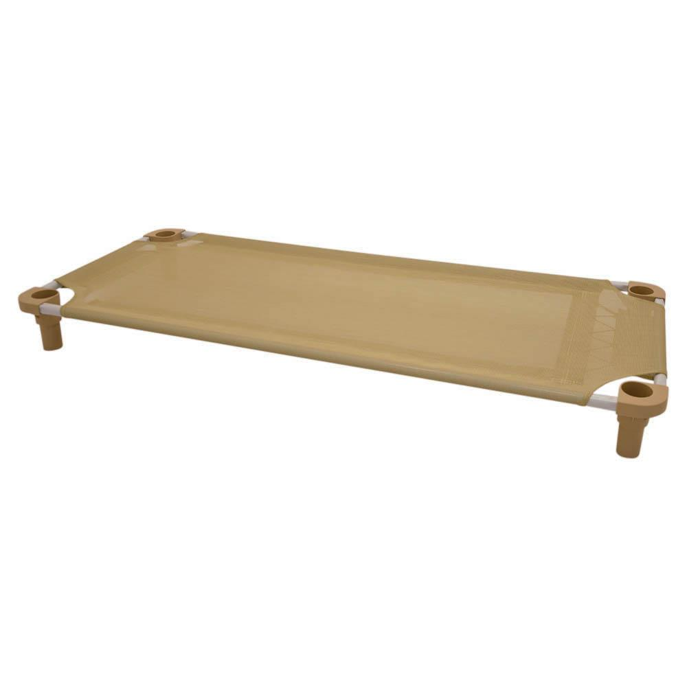 52x22 Pet Cot in Tan with Tan Legs, Unassembled