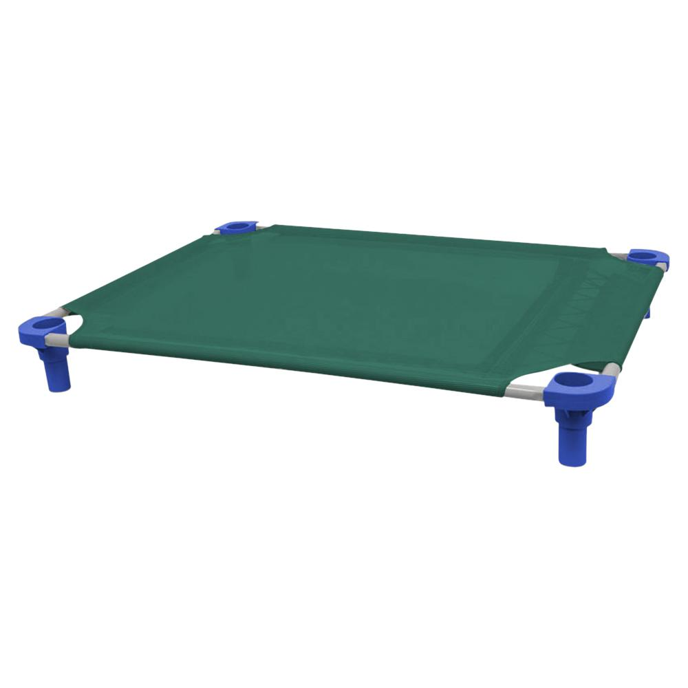 40x30 Pet Cot in Teal with Blue Legs, Unassembled