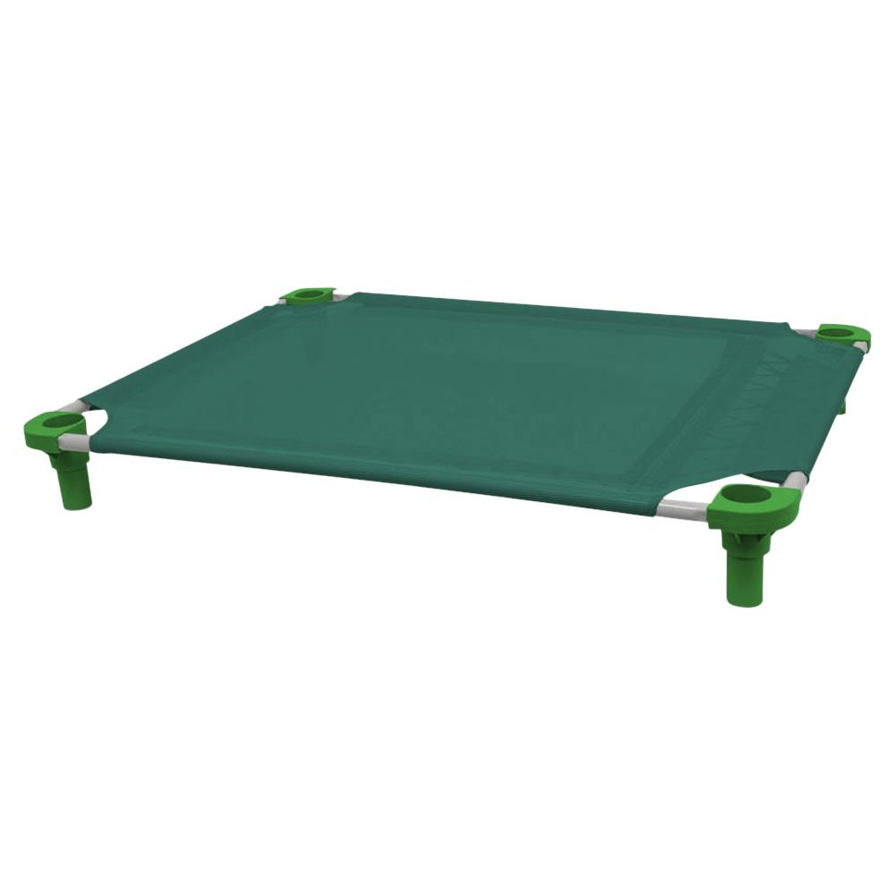 40x30 Pet Cot in Teal with Dustin Green Legs, Unassembled