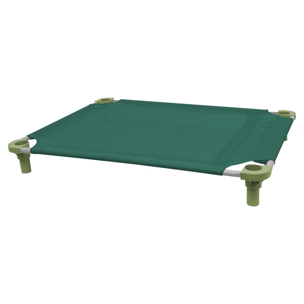 40x30 Pet Cot in Teal with Sage Legs, Unassembled